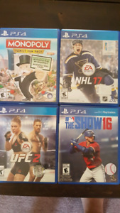Ps4 games NHL 17 & The Show 16 20$ each