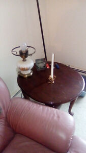 set of end tables and one coffe table