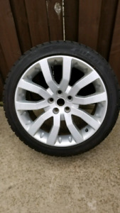 RANGE ROVER SPORT RIMS AND SNOW TIRES
