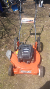 Husqvarna high wheel gas mower