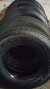 Almost New 5 GoodYear Wrangler ST 225/75/16 Allseason Tires