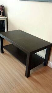 Table basse de salon mélamine brune