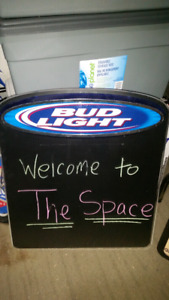 Bud light dry erase board.