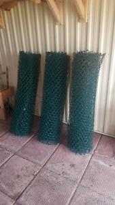 Green mesh fencing