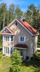 Maison à louer avec accès de bateau au lac taureau