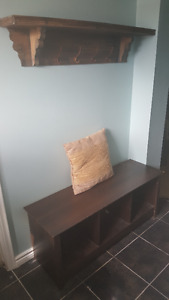 bench and shelf