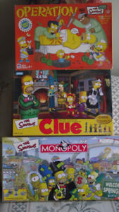 SET OF 3 SIMPSONS GAMES