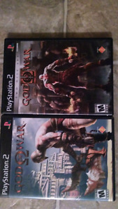 God Of War games for PS2. $15 for the set.
