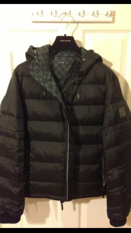 Louis Vuitton Damier Graphite Reversible Down Jacket
