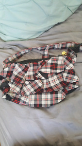 Plaid ruffled waist bag or fanny pack