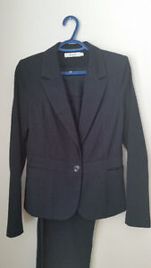 Ricki's Navy Pinstripe Suit, size 6, petite pants Kingston Kingston Area image 1
