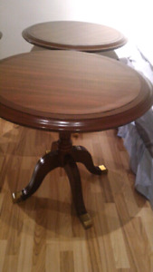 3 round bistro/coffee shop tables