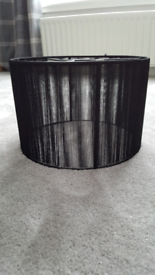 Large lamp or Ceiling Black String Shade.