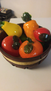 Glass fruit and veggie