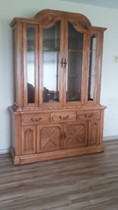 For sale like new oak cabinet