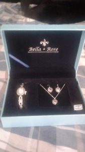 New ladies Matching watch , necklace and earing set