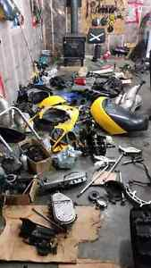 Used rev and xp skidoo parts