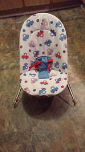$15 obo - Bouncer / Vibrating Chair - Battery Included,Washable,