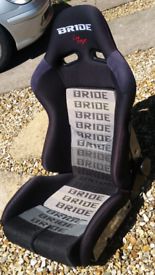 Bride low max bucket seat reclining rx7 supra skyline 200sx drift