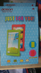 """7"""" kids Android tablets with case and rubber case  $100."""