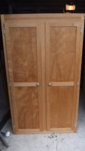 tall stand alone wardrobe closet in exc cond