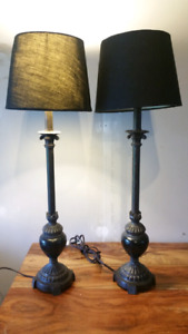 Consol table lamps