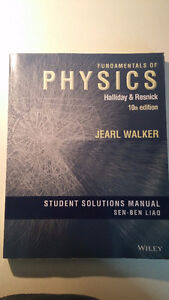 Student Solutions Manual for Fundamentals of Physics, 10th ed.