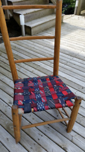 Ladder backed chair