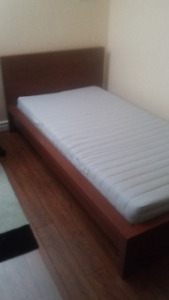 A nice in a great shape a twin bed with matres