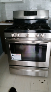 2 years old stainless gas stove $100