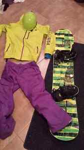 Motocross and snowboard set