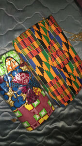 African Print handbag and clutch for sale