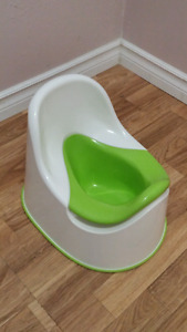 Never used potty and toilet seat.