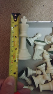 """3.75"""" King Club chess pieces with double queens"""