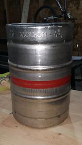 Empty molson beer keg