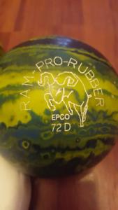 Soulier et boules de bowling