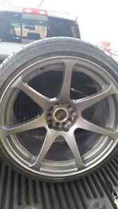 Rims with tire Strathcona County Edmonton Area image 1