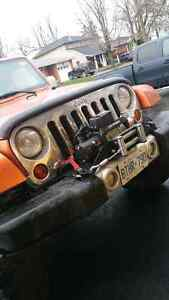 Jeep wrangler jk/jku factory bumper and winch plate Cambridge Kitchener Area image 4
