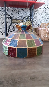 Stained glass hanging light shade / lamp shade