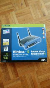 Wireless - G Broadband Router/Routeur à large bande sans fil G