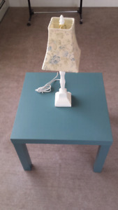 Ikea Lack Side Table and Lamp