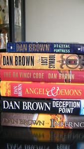 Five Books by Author Dan Brown.
