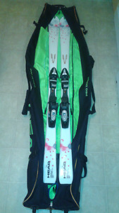 Women's Downhill Skis with Travel Bag