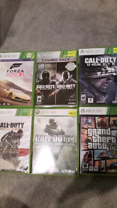 Xbox 360 with 2 controlers and games OBO