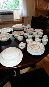 Complete Spode antiue dining set