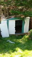 Looking for someone to take apart/remove collapsed steel shed