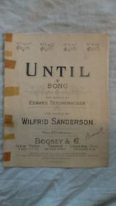Until: Song - Words By Edward Teschemacher - Music by Wilfrid S.