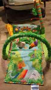Fischer Price Rainforest Bouncer, Swing and Playmat Cambridge Kitchener Area image 3