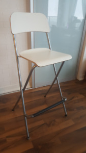 White Ikea Bar Stools - Set of 2
