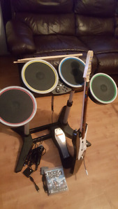 Rock band 2 with instruments ps3 mint condition